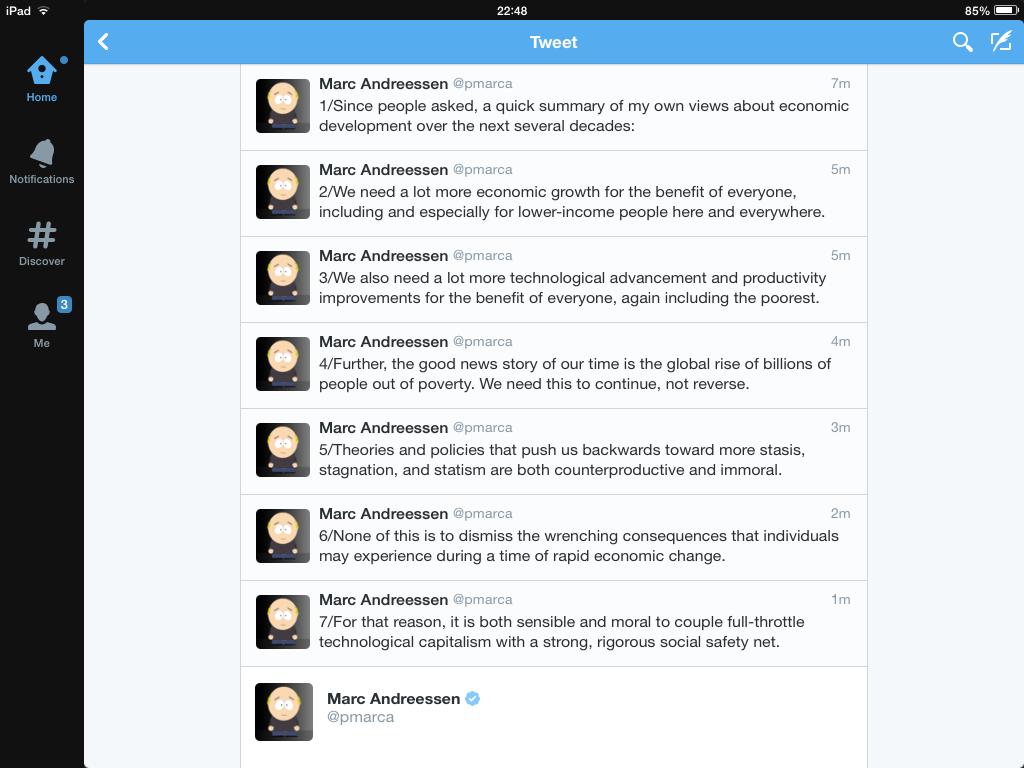 Marc Andreessen TwitterStorm