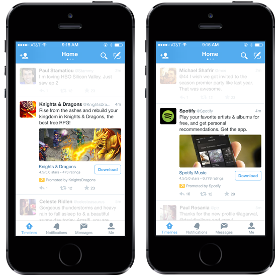 Deep link Twitter mobile app ads can reduce cost per installation for brands